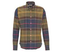Freizeithemd, Tailored Fit, Kent-Kragen, Flanell, Grün