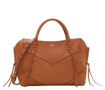 Handtasche, Leder, Fransen, Beige