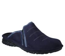 """Pantoffeln """"Mikado"""", zweifarbig, Leder, Blau"""