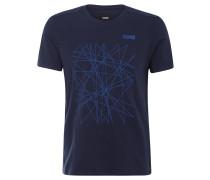 """T-Shirt """"Dynamic"""" für Herren, Baumwollmix, Stretch, grafischer Print, Blau"""
