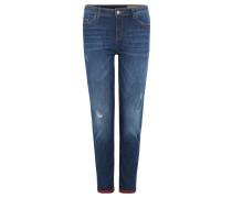 Jeans, Used-Optik, Kontrastfarbe innen, Blau