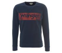 Pullover, Rundhalsausschnitt, Logo-Print, Baumwolle, Blau