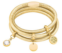 Armband aus Leder mit Anhängern gelbvergoldet NOD16/159 566018