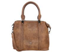 Handtasche, Lederoptik, punktierte Details