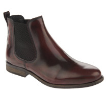 Chelsea Boots, Lackleder, Fersenschlaufe, Rot