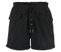 Shorts, Knöpfe, eingesetzte Taschen, umgeschlagener Saum, Blau