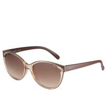 Sonnebrille, ovale Form, transparenter Rahmen