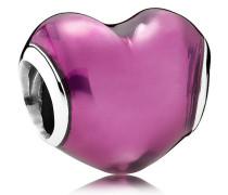 Charm Herz Silber mit Emaill Pink 791814EN62