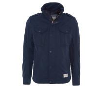 Jacke, Brusttaschen, gesteppte Seiten, Blau