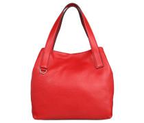 "Handtasche ""Mila"", Leder, Beutelform, Rot"