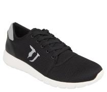 Sneaker, Mesh-Oberfläche, Wechselfußbett, Schwarz