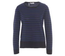 Pullover, Feinstrick, gestreift, Wolle, Blau