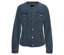 Jeansjacke, Taschen, Knopfleiste, Blau