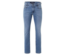 "Jeans ""Bill"", Five Pocket-Stil, Modern Fit, Blau"