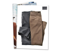 "Jeans ""Tina"", Feminin Fit, gerades Bein, Grau"