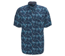 Freizeithemd, Modern Fit, Hawaii-Print, Blau