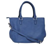 Handtasche, Leder-Optik, optionaler Schultergurt, Blau