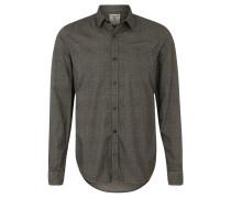 Freizeithemd, Brusttasche, Regular-Fit, Grau