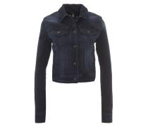 Jeansjacke, Slim Fit, kurzer Schnitt, Brusttaschen, Blau