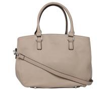 Handtasche, Leder-Optik, optionaler Schultergurt, Beige