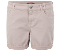 Shorts, uni, 5-Pocket-Design, Baumwolle, Beige