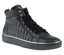 "Sneaker ""Cervina"", Stepp-Design, Samt-Schnürsenkel, Schwarz"