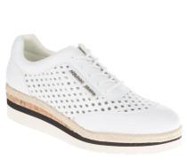 Sneaker, leicht, Loch-Muster, Plateausohle, Weiß