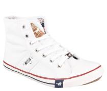 Sneaker, Canvas, Reißverschluss, Weiß