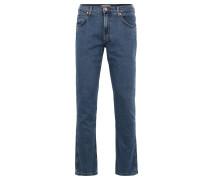 """Jeans """"Greensboro"""", Regular Straight Fit, Emblem, Blau"""
