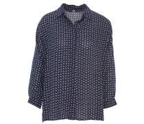Blusenshirt, Punktemuster, lockerer Schnitt, Blau