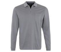 Polo-Shirt, lange Ärmel, weiches Baumwoll-Gemisch