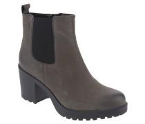 Chelsea Boots, Leder, breite Sohle, Grau