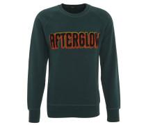 Sweatshirt, Baumwolle, Stickerei, Raglanärmel, Grün