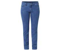 Jeans, Slim Fit, gerades Bein