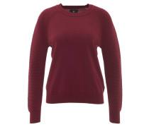 Pullover, Ripp-Einsätze, uni, Rot