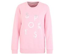 Sweatshirt, Front-Print, Baumwoll-Anteil, für Damen, Rosa