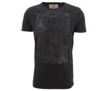 T-Shirt, Front-Print, Ziernähte