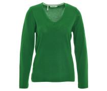 Pullover, reine Schurwolle, V-Ausschnitt, Grün