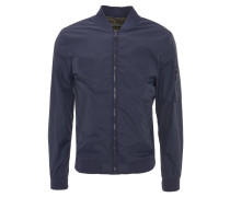 Blouson-Jacke, Gummibund, Ärmeltasche, Reißverschluss, Blau