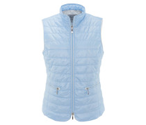 Weste, leicht, wasserabweisend, Reißverschlusstaschen, Blau
