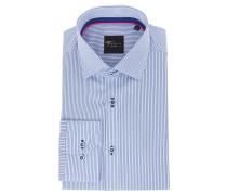 Businesshemd, Slim Fit, gestreift, Blau