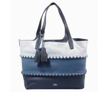"Handtasche ""Edena"", Leder, Blau"