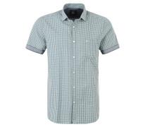 Freizeit-Hemd, kurzarm, Karo-Muster, Grün