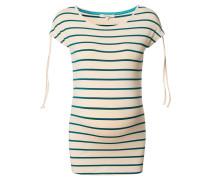 """T-Shirt """"Leah"""", Streifen-Design, Raffbändchen, Beige"""