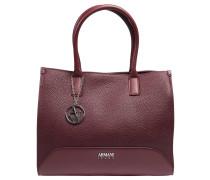 Handtasche, Lederimitat, Anhänger, Emblem, Rot