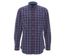 Hemd, Karo-Muster, Baumwolle, Button-Down-Kragen