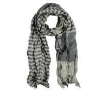 Schal, Baumwolle-Leinen-Mix, variierende Streifen
