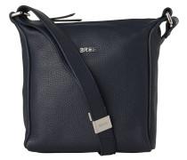 Nola 1, blue, ladies' handbag grained, Blau