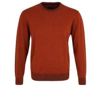Pullover, Rundhalsausschnitt, reine Baumwolle, Orange