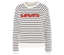 Sweatshirt, gestreift, Logo-Stickerei